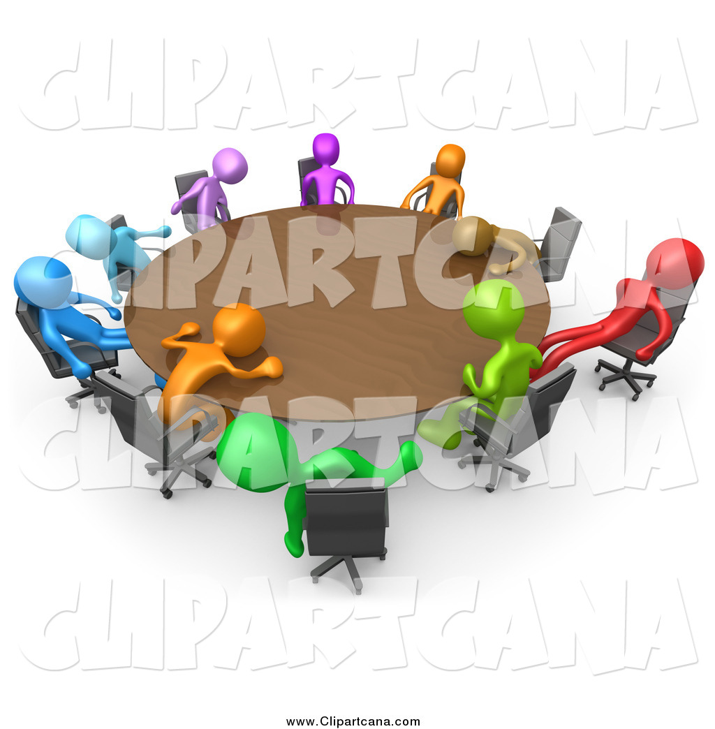 Royalty Free Conference Stock Designs - Round table clip art