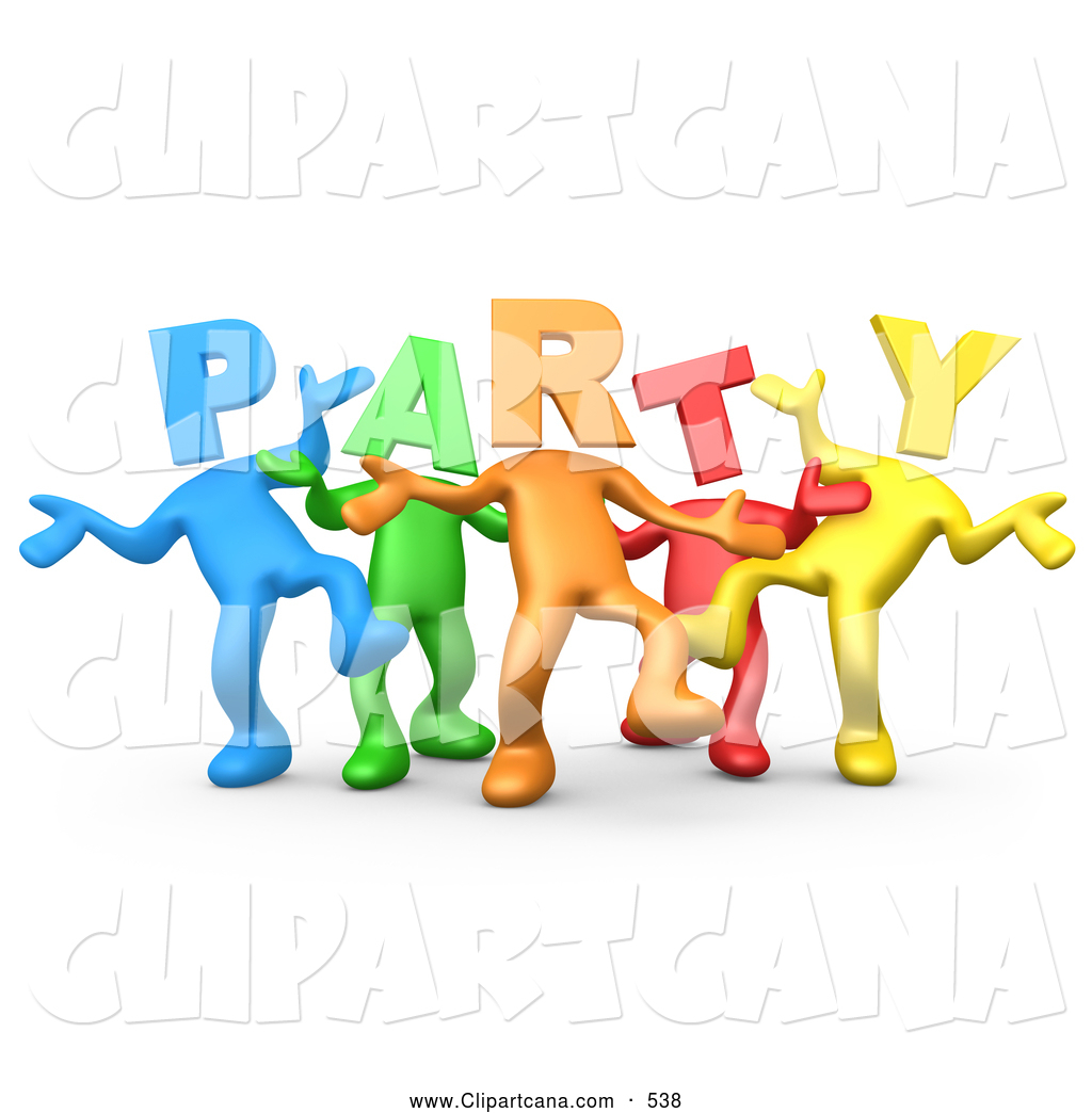 Diversity People Clipart Clip art of a diverse line of