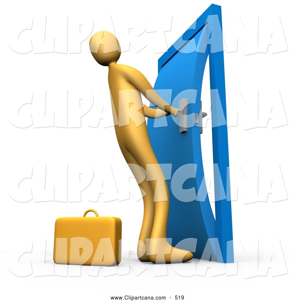 Clip Art of a Long Orange Person by a Briefcase Struggling to Yank Open a  sc 1 st  Royalty Free Stock Illustrations Clipart and Vector Graphics & Clip Art of a Long Orange Person by a Briefcase Struggling to ... pezcame.com