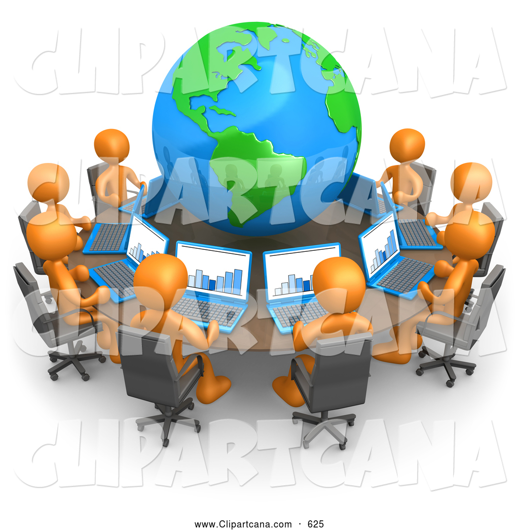 Royalty Free Stock Designs Of Computers - Round table clip art