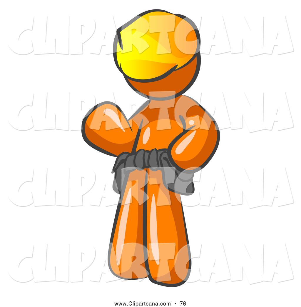 Vector Clip Art of a Shiny Friendly Orange Construction ...