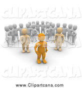 Clip Art of 3d Men Watching Leaders by Jiri Moucka