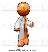 Clip Art of a 3d Orange Man Doctor by Leo Blanchette
