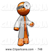 Clip Art of a 3d Orange Man Doctor3d Orange Man Doctor by Leo Blanchette