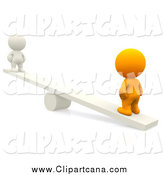 November 10th, 2014: Clip Art of a 3d Orange Man on the Heavy Side of a Teeter Totter, with a White Man on the Other Side by