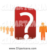 August 10th, 2014: Clip Art of a 3d Orange People by a Large Red Question Mark by Qiun