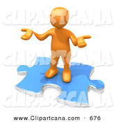 Clip Art of a Confused and Shrugging Orange Person Holding Their Hands out Because They Aren't Sure What to Do About Seo and Link Exchanges to Market Their Site by 3poD