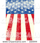 Clip Art of a Grungy American Flag Background by Pushkin