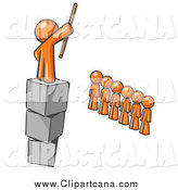 Clip Art of a Orange Man Ruling His Followers by Leo Blanchette