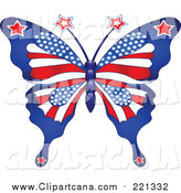 Clip Art of a Patterned American Butterfly by Pushkin