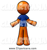 Clip Art of a Shrugging Careless Orange Man by Leo Blanchette