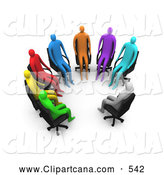 Clip Art of a Support Group Sitting in a Circle by 3poD