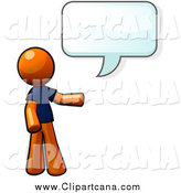 August 28th, 2014: Clip Art of a Talking Orange Man by Leo Blanchette