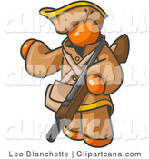 Clip Art of an Orange Hunter by Leo Blanchette