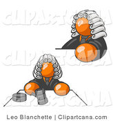 Clip Art of Orange Judges by Leo Blanchette