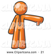 October 23rd, 2013: Vector Clip Art of a Pessimistic Orange Business Man Giving the Thumbs down by Leo Blanchette