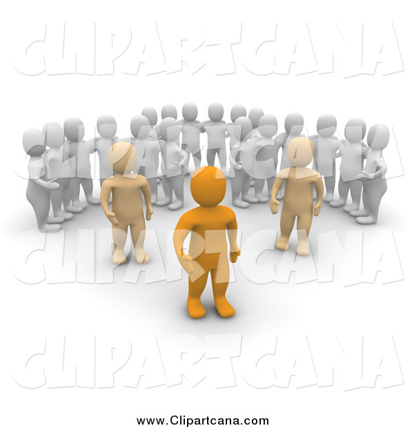 Clip Art of 3d Men Watching Leaders