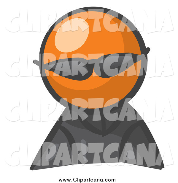 Clip Art of an Orange Man Avatar Wearing Shades