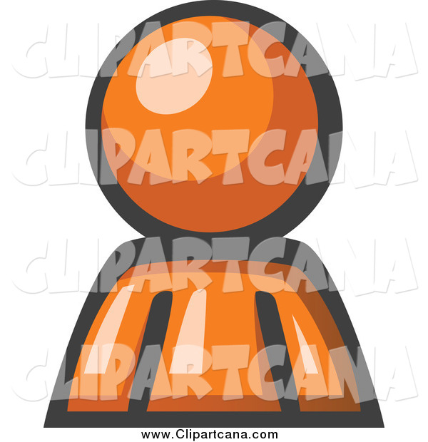 Clip Art of AnAvatar Orange Man