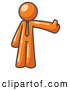 Vector Clip Art of a Friendly Orange Business Man Giving the Thumbs up by Leo Blanchette