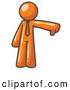 Vector Clip Art of a Pessimistic Orange Business Man Giving the Thumbs down by Leo Blanchette